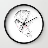 bow Wall Clocks featuring Bow by Annika Bäckström