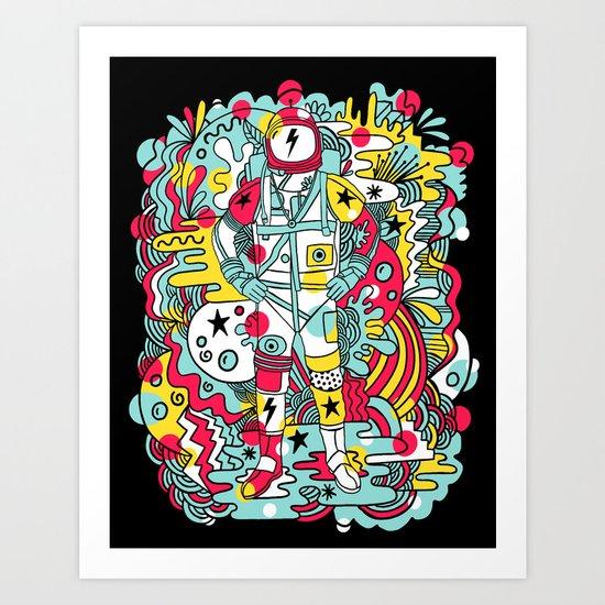 Moonage Daydream Art Print