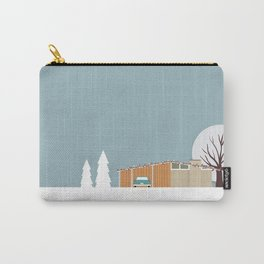 Retro series - Mid Century house in winter Carry-All Pouch