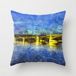 Margaret Bridge Budapest Van Goth Throw Pillow