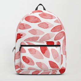 Watercolor brush strokes - red Backpack
