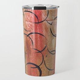 Abstract Circles Painting Travel Mug