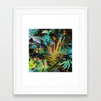 jungle Framed Art Prints featuring jungle by clemm