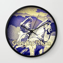 Spirit of the Great Gobi Desert - Genghis Khan Wall Clock
