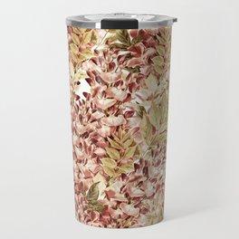 Vintage boho mauve pink dusty green floral Travel Mug