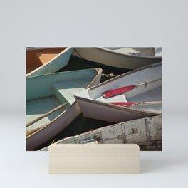 Schoodic Peninsula Boats Mini Art Print