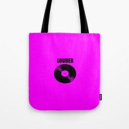 louder music logo Tote Bag
