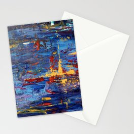 Moon light reflection Stationery Cards
