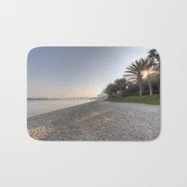 Dubai Beach Sunset Bath Mat