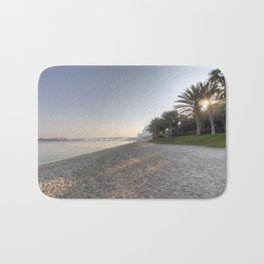 Dubai Beach Sunset Bath Mat