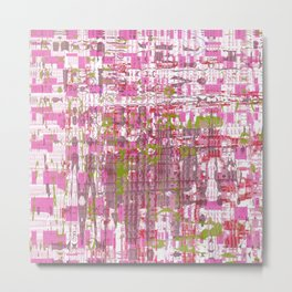 Glassy effects on pink, green and white texture Metal Print