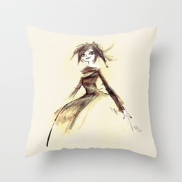 Gothic Lady Throw Pillow