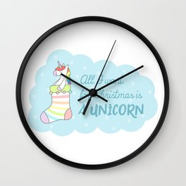 All I want for Christmas is a Unicorn Wall Clock