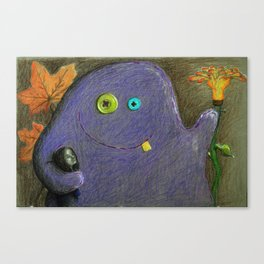 My friendly monster Canvas Print