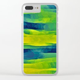 Acid Yellow and Indigo Abstract Clear iPhone Case