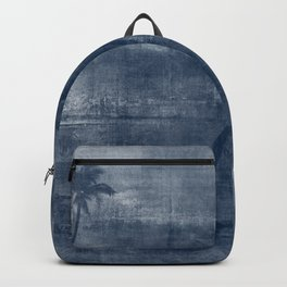 Tropical Paradise | Blue + White Backpack