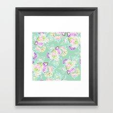 Modern bright spring pastel floral watercolor illustration Framed Art Print
