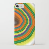 tree rings iPhone & iPod Cases featuring Tree Rings by K I R A   S E I L E R
