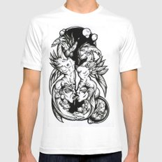 Sea-Horses MEDIUM White Mens Fitted Tee