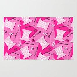 Memphis Sewing in Pink Rug