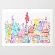 Berlin Towers Art Print