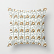 dapperific dog Throw Pillow