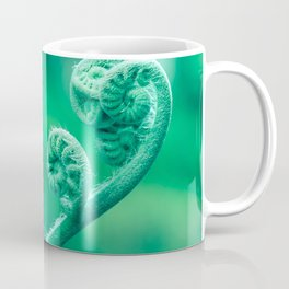 Elegant Green Stem Curls Coffee Mug