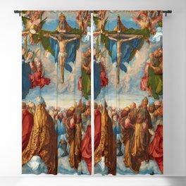 "Albrecht Dürer ""Adoration of the Trinity (Landauer Altar) All saints"" Blackout Curtain"