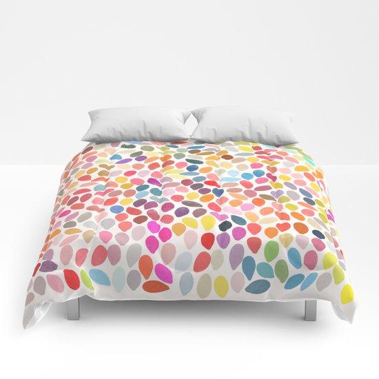rain 3 sq Comforters