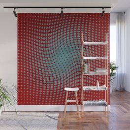 Polka dots with a twist (red) Wall Mural