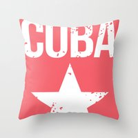 cuba Throw Pillows featuring CUBA by Department M