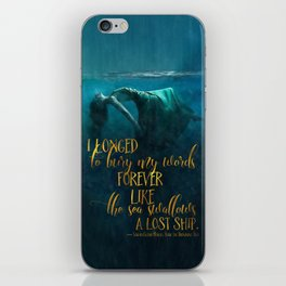 Fear of the Drowning Deep - Bury My Words iPhone Skin