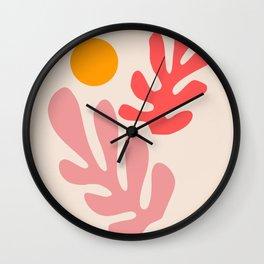 Henri Matisse - Leaves - Blush Wall Clock