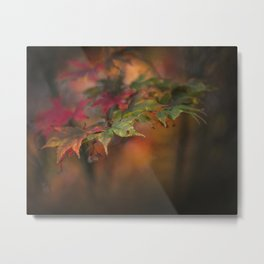 Turning Leaves Metal Print