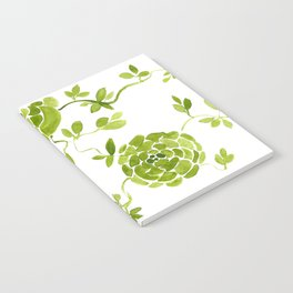 green zinnias by cocoblue Notebook
