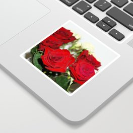 Red and yellow roses Sticker