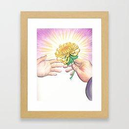 Gift of a Flower Framed Art Print