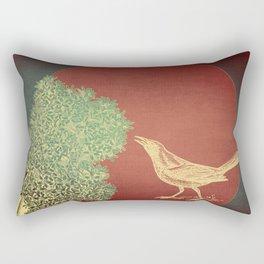 White Sorrow Rectangular Pillow