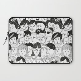 Colorful People Faces Pattern Laptop Sleeve
