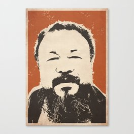 Ai Wei Wei (Red) Canvas Print