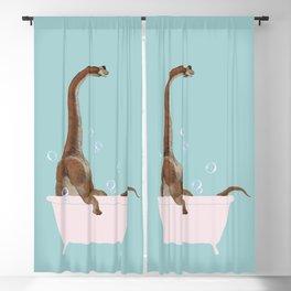 Brachiosaurus in Bathtub Blackout Curtain
