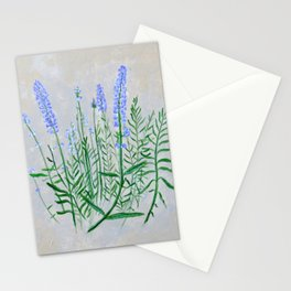 Lavender Plant Grows in the Garden Stationery Cards