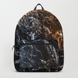 Dark marble pattern Backpack