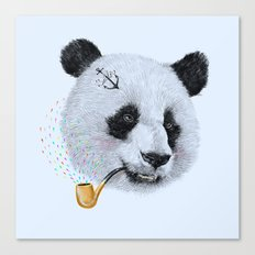 Panda Sailor Canvas Print
