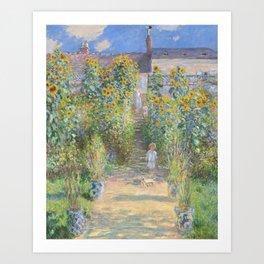 The Artist's Garden at Vetheuil Art Print
