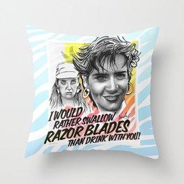 RAZOR BLADES Throw Pillow