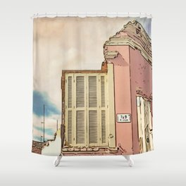 Downfall - Demolition building Shower Curtain