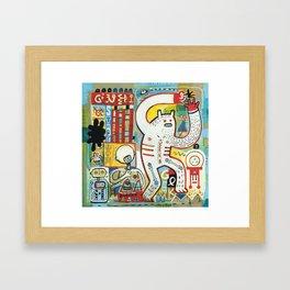Geek shop  Framed Art Print