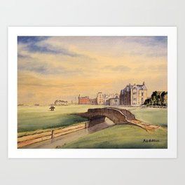 St Andrews Golf Course Scotland 18th Hole Art Print