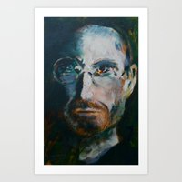 steve jobs Art Prints featuring Steve Jobs by Charles Dowdy